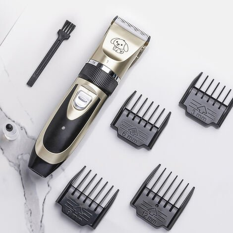 Pet Shave Clipper Hair Mute Cordless Electric Dog Cat Grooming Trimming Kit Nail