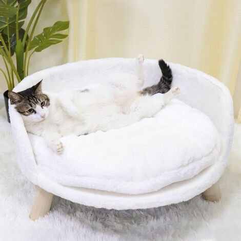 Raised Pet Dog Sofa Chair Kennel Puppy Cat Soft Couch Bed Mat Cushion Home,60cm