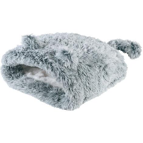 "Pet Cat Dog Nest Bed Puppy Self-Warming Kitty Sack Winter Sleeping Bag - Small 20"""
