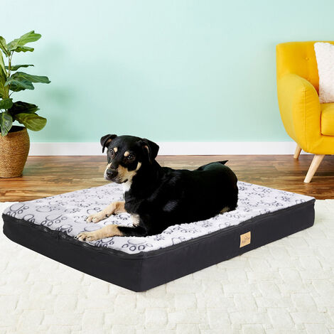 Waterproof Jumbo XL Pet Bed for Large Dog Orthopedic Mattress w/ Removable Cover - Large 80x60x10cm