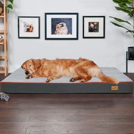 Tremendous Waterproof Dog Bed Kennel Thick Foam Fur Mattress Pet Sponge Cushion, Extra Large (110 x 85 x 10 cm)