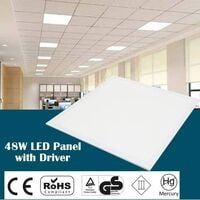 10x 48W Ceiling Suspended Recessed LED Panel Lights Home Office Lighting 600x600mm