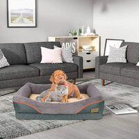 Jumbo Orthopedic Dog Pet Bed Warm Pillow Mattress Eases Pet Arthritis & Hip Pain, S 29 x 23.6 x 7.9 inch