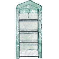 Green House With Shelves Frame Heat Preservation Moisturizing Portable Growhouse