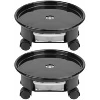 2 Pack Plant Caddy Round Plant Dolly with Universal Wheels Indoor Outdoor Garden