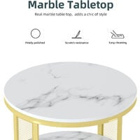 Modern Marble Coffee Table Side Shelf End Sofa Table Nightstand Living Room Home