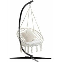 Heavy Duty Hanging Swing Egg Chair C Hammock Frame Stand with X Base Outdoor
