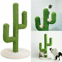 Sisal Rope Cat Scratch Cactus Shape Tree Cat Climbing Scratching Post Interactive