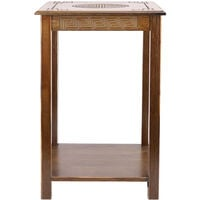 Retro Coffee Table Sofa Side Small Night Stand End Table Tray Bedroom Furniture - Small-13x13x20in