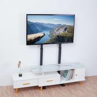 """Height Adjusted For 32-65"""" Floor TV Stand Bracket Slender Behind TV Cabinet"""