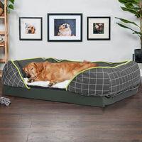 Bingpaw Oversized Dog Sofa Bed Washable Cushion Warm Luxury Pet Basket Couch Mat, Medium 75 x 55 x 21cm