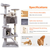XL Large Cat Kitten Tree Scratch Post Bed With Multi Perch Activity Tower Condos