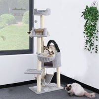Cat Kitten Tree Scratch Post Bed Multi Level Activity Climbing Tower With Perch