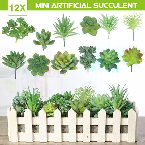 Plantes de cactus de bureau Micro paysage plantes succulentes artificielles fleurs bureau décor à la maison