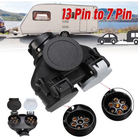 Connecteur à double tête 13 broches à 7 broches connecteur d'alimentation de remorque RV connecteur de prise connecteur adaptateur de Conversion étanche