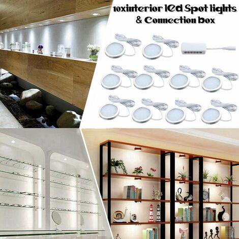 10x intérieur LED Spot Light cuisine sous armoire comptoir campeurs Van armoire lampes étagère Accent éclairage camping-car éclairage