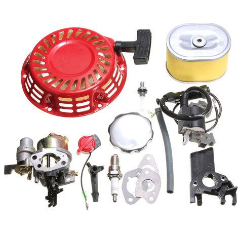 Pour Honda GX160 GX200 5.5HP Kit moteur Carburateur Recoil Bobine D'allumage Bougie D'allumage Filtre à Air