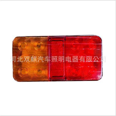 2X 10 LED indicateur d'arrêt arrière feux arrière remorque camion camion caravane van 12-80 V / 12 V / 24 V (type B 24 V 10 LED)
