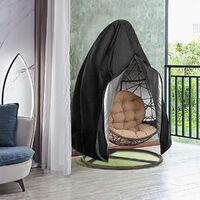 Patio de jardin imperméable à l'eau suspendue couverture de chaise d'oeuf d'oscillation de pluie protéger la tirette de soleil