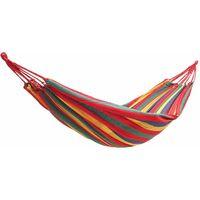 Jardin extérieur Portable Toile Hamac Voyage Camping Balan?oire Chaise Suspendue Lit (Rouge, Type B Hamac (280x150cm))
