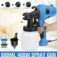 Outil de pulvérisateur de peinture de pulvérisateur de peinture électrique domestique de puissance élevée 800ML 400W (bleu)
