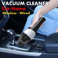 Aspirateur haute puissance 120W humide / sec double usage automatique aspirateur à main portable pour le nettoyage intérieur de voiture / maison, forte aspiration (modèle de mise à niveau sans fil)