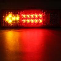 LED étanche remorque camion voiture caravane queue clignotant arrêt feu arrière (rouge, 30 cm par 8,7 cm)