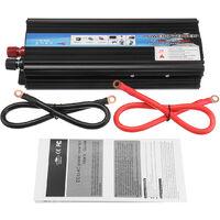 2000W 12V-220V AC Convertisseur de tension Onduleur solaire LED Noir