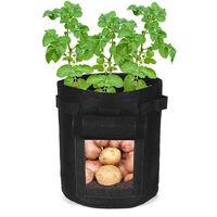 5PCS 4.5 gallons sac de plantation de pommes de terre pot de plantation pot de légumes pot de culture 25 x 35 cm