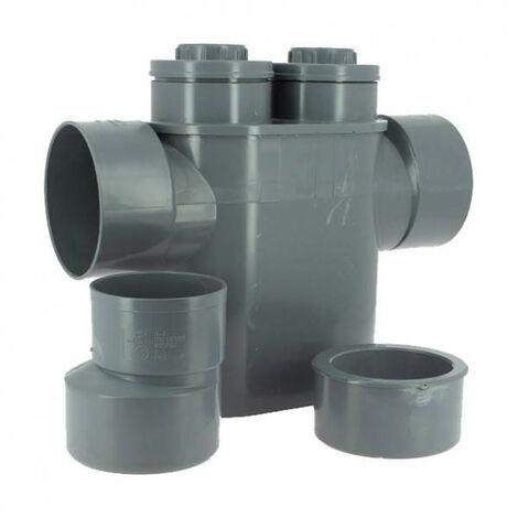 Sifón de PVC monobloque anti-retorno, Evac Ø 125/100, a prueba de olores