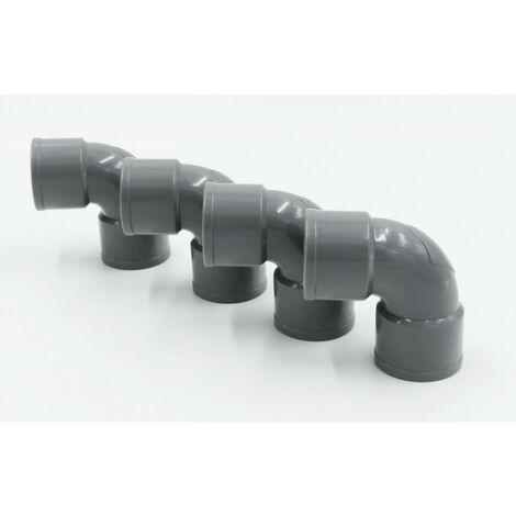 ø 32 mm Sumidero codo PVC 87°30' FF encolado - Juego de 4 piezas