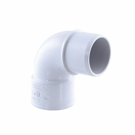 Drenaje de codo de PVC, 87° M-F, ø 40 mm, color blanco.