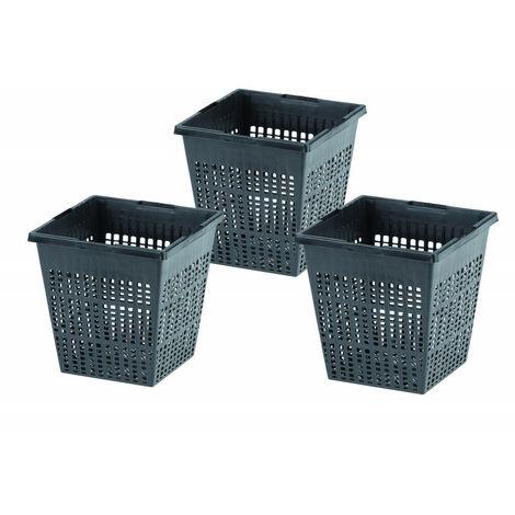 Set de 3 cestas, medidas: 11x11x11 cm, para piscina acuática