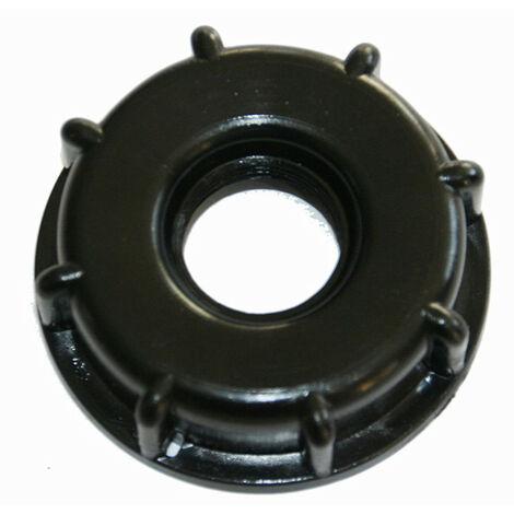 Tuerca de conexión de pvc S60x6 3/4 (20/27) roscada para cubo IBC de 1000 litros