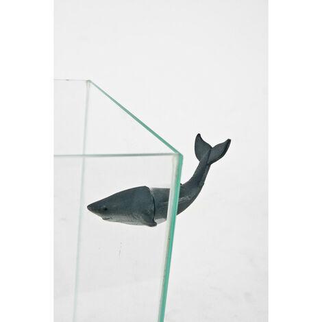 Decoración magnética de tiburones compuesta de partes para acuarios