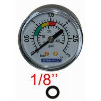 Manómetro Astralpool para Piscina con Filtro de Arena 3 Barras - 44040101010103 - Fijación hacia atrás conexión 1/8