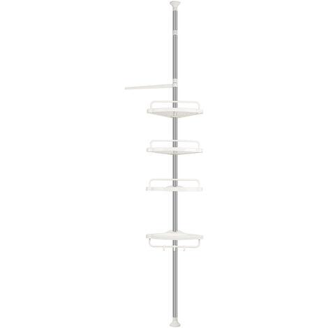 Estante de esquina de ducha de organizador de baño con estante ajustable de 4 niveles