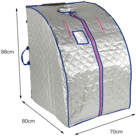 Sauna infrarroja portátil, sauna, sauna, cabina de adelgazamiento corporal y facial, adelgazamiento, focalización en la piel, efecto spa, plata