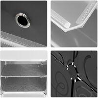 Armario de zapatero modular para bricolaje, gabinete de almacenamiento con módulos de plástico para baño, garaje, dormitorio, sala de estar, blanco y negro con patrón rizado 8 Zapatero, cubos de malla metálica