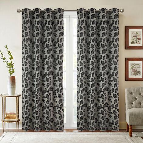 Paire de rideaux obscurcissant Louison - Noir, 140x260cm