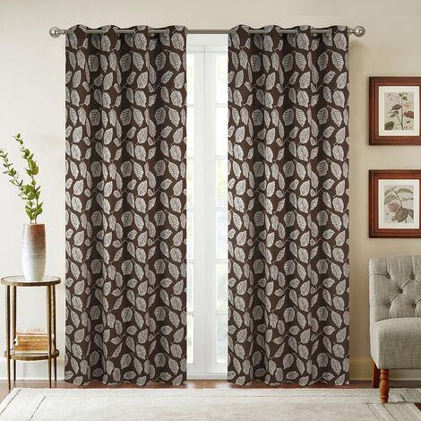 Paire de rideaux obscurcissant Louison - Chocolat, 140x260cm