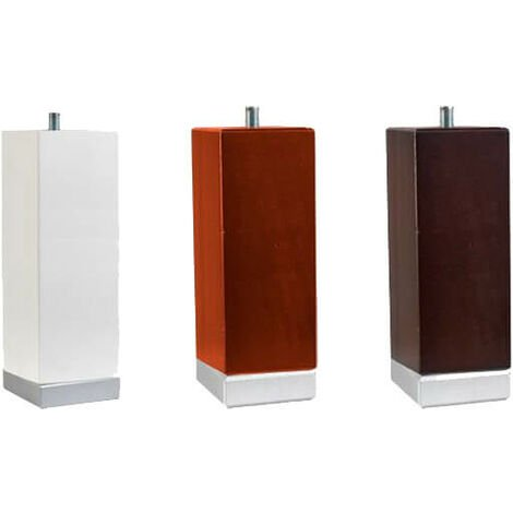 Base carrée et pieds tapi 15 cm filetage métrique 10 | 4 pieds en bois blanc