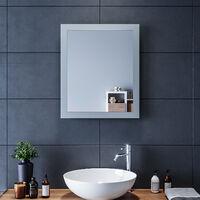 60x50 CM Miroir de salle de bains avec éclairage LED Miroir Cosmétiques Mural Lumière Illumination avec Commande par Effleurement,SIRHONA