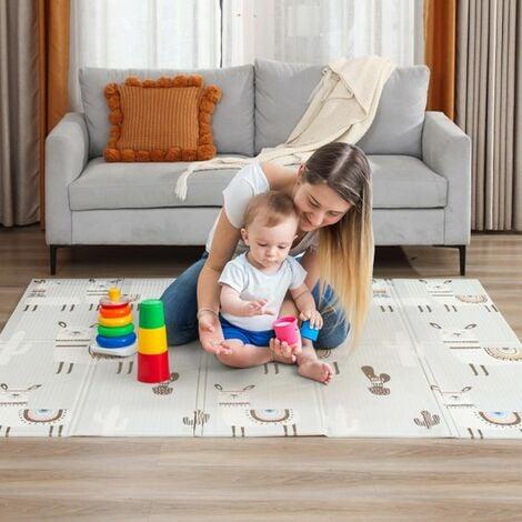 Baby Vivo Tapis de Jeu pour Enfants Double face avec des Rues 200 x 180 cm - Alpaga