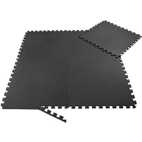 SAMAX EVA Tapis de Protection de Sol 8 Dalles - Noir