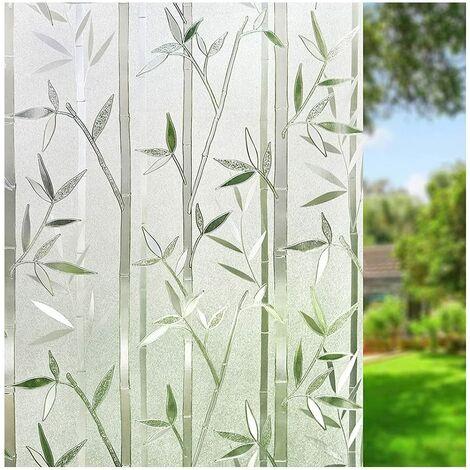 60 cm × 200 cm Film Intimité pour Vitre Statique Décoratif Film Adhésif Fenêtre Vitrage Autocollant Motif