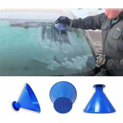 Grattoir à glace rond pour pare-brise de voiture en forme d'entonnoir