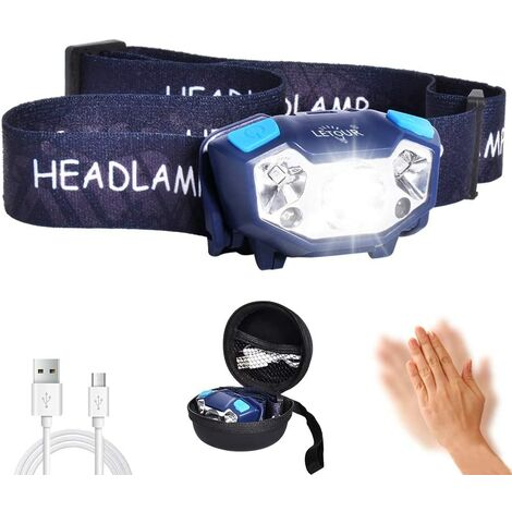 randonnée Lampe Frontale Puissante Rechargeable Zoomable et étanche pour sport