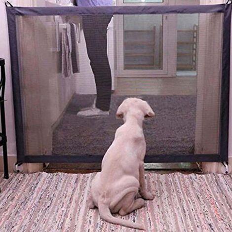 Clôture de sécurité pliante portative pour animaux de compagnie à porte magique