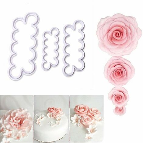 3D Rose fleur jamais coupeur Fondant moule gâteau décoration fabricant moule outil de cuisson accessoires